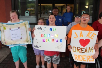 Dream Ride Stop, benefits Special Olympics, Hampton Inn, Hazleton, 8-20-2015 (12)