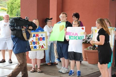 Dream Ride Stop, benefits Special Olympics, Hampton Inn, Hazleton, 8-20-2015 (22)