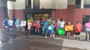 Dream Ride Stop, benefits Special Olympics, Hampton Inn, Hazleton, 8-20-2015 (38)