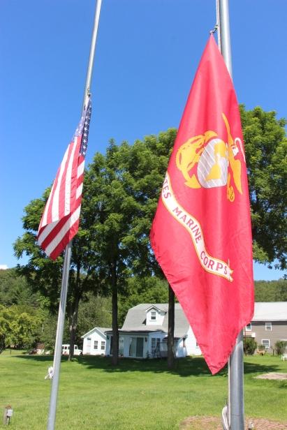 Flags at Half-Mast, Brockton, 7-24-2015 (2)