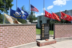 Flags at Half-Mast, Brockton, 7-24-2015 (36)