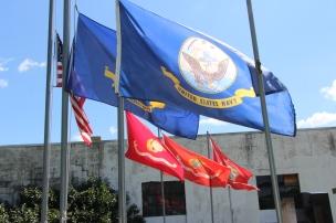 Flags at Half-Mast, Brockton, 7-24-2015 (8)