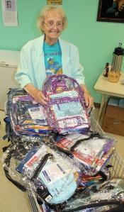 Free Book Bags and Supplies, Tamaqua Salvation Army, Tamaqua, 8-11-2015 (2)