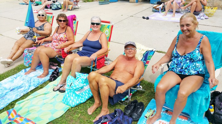 Friends at the Pool, H.D. Buehler Memorial Bungalow Pool, Tamaqua, 8-23-2015