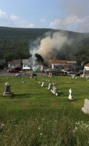 Garage Fire, Nesquehoning, 8-17-2015, from Nesquehoning Fire Company