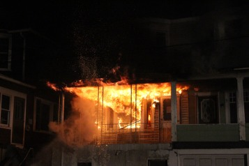House Fire, 40-42 West Water Street, US209, Coaldale, 8-4-2015 (1)