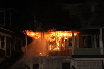 House Fire, 40-42 West Water Street, US209, Coaldale, 8-4-2015 (2)