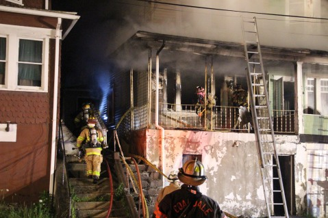 House Fire, 40-42 West Water Street, US209, Coaldale, 8-4-2015 (218)