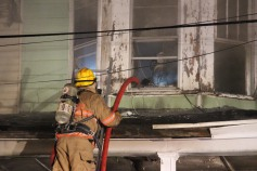 House Fire, 40-42 West Water Street, US209, Coaldale, 8-4-2015 (302)