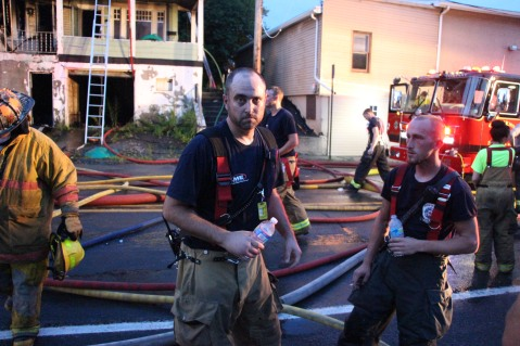 House Fire, 40-42 West Water Street, US209, Coaldale, 8-4-2015 (437)