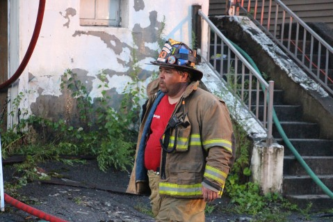 House Fire, 40-42 West Water Street, US209, Coaldale, 8-4-2015 (519)