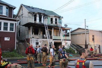 House Fire, 40-42 West Water Street, US209, Coaldale, 8-4-2015 (549)