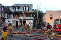 House Fire, 40-42 West Water Street, US209, Coaldale, 8-4-2015 (613)