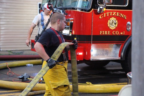 House Fire, 40-42 West Water Street, US209, Coaldale, 8-4-2015 (623)