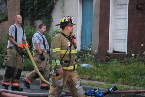 House Fire, 40-42 West Water Street, US209, Coaldale, 8-4-2015 (635)