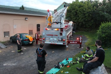 House Fire, 40-42 West Water Street, US209, Coaldale, 8-4-2015 (647)