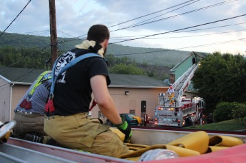 House Fire, 40-42 West Water Street, US209, Coaldale, 8-4-2015 (665)
