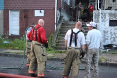 House Fire, 40-42 West Water Street, US209, Coaldale, 8-4-2015 (713)