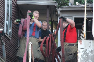 House Fire, 40-42 West Water Street, US209, Coaldale, 8-4-2015 (716)
