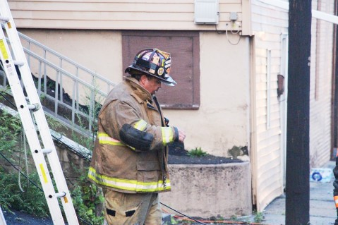House Fire, 40-42 West Water Street, US209, Coaldale, 8-4-2015 (735)