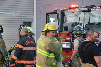House Fire, 40-42 West Water Street, US209, Coaldale, 8-4-2015 (759)