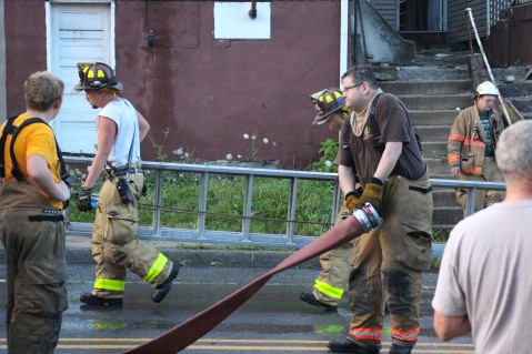 House Fire, 40-42 West Water Street, US209, Coaldale, 8-4-2015 (764)