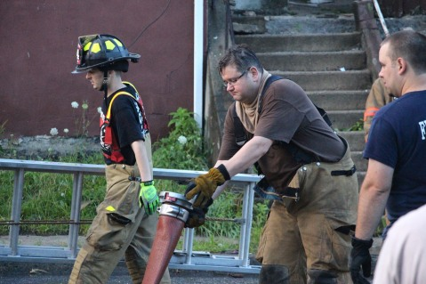 House Fire, 40-42 West Water Street, US209, Coaldale, 8-4-2015 (765)
