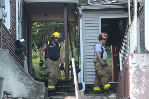 House Fire, 40-42 West Water Street, US209, Coaldale, 8-4-2015 (777)