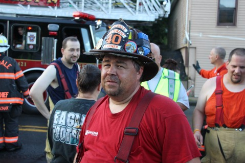 House Fire, 40-42 West Water Street, US209, Coaldale, 8-4-2015 (803)