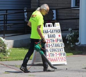 Jack Kulp, Working, Volunteering, Tamaqua Community Arts Center, Tamaqua, 7-25-2015 (2) - Copy
