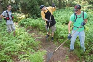 Making New Bicycle Trails, Owl Creek Reservoir, Tamaqua, 7-26-2015 (8)