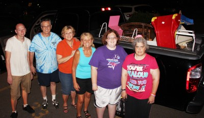 Pictured from left are volunteers Eric Becker, Victor Gogal, Claudia Gogal, Wandi Little, and Dawn Yates.