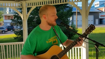 Music In The Park, Darren Frehulfer, via Lansford Alive, Kennedy Park, Lansford, 8-23-2015 (10)