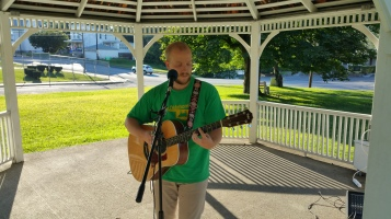 Music In The Park, Darren Frehulfer, via Lansford Alive, Kennedy Park, Lansford, 8-23-2015 (2)