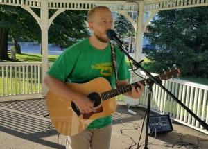 Music In The Park, Darren Frehulfer, via Lansford Alive, Kennedy Park, Lansford, 8-23-2015 (6)