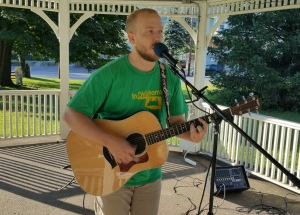Music In The Park, Darren Frehulfer, via Lansford Alive, Kennedy Park, Lansford, 8-23-2015 (6)