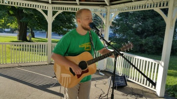 Music In The Park, Darren Frehulfer, via Lansford Alive, Kennedy Park, Lansford, 8-23-2015 (7)