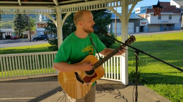 Music In The Park, Darren Frehulfer, via Lansford Alive, Kennedy Park, Lansford, 8-23-2015 (9)