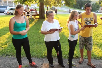 Music In The Park, Salvation Army performs, via Lansford Alive, Kennedy Park, Lansford (135)