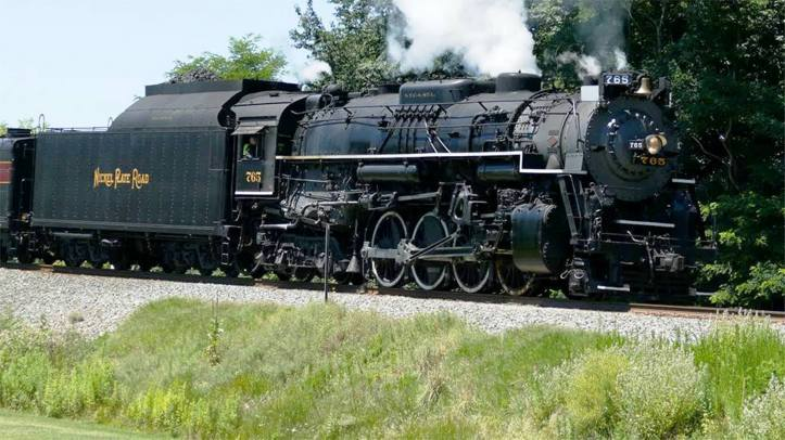 Nickel Plate Road 765, 2-8-4 Berkshire Steam Engine, from Adam Kunkel, Train, Jim Thorpe, 8-22-