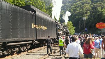 Nickel Plate Road 765, Berkshire Steam Engine, from Dale Freudenberger, Jim Thorpe, 8-22-2015 (1)