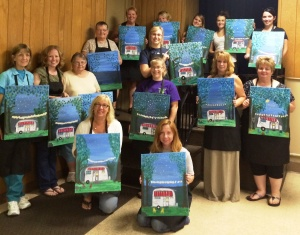 Paint & Sip, Creative Changes Center for Arts and Humanities, Brockton, 8-14-2015 (1)