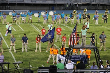 Raider Marching Band during Fall Meet The Raiders, TASD Sports Stadium, Tamaqua, 8-26-2015 (104)