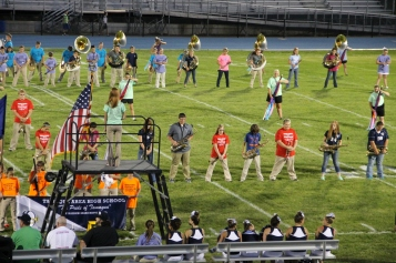Raider Marching Band during Fall Meet The Raiders, TASD Sports Stadium, Tamaqua, 8-26-2015 (105)