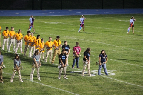 Raider Marching Band during Fall Meet The Raiders, TASD Sports Stadium, Tamaqua, 8-26-2015 (108)
