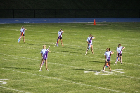 Raider Marching Band during Fall Meet The Raiders, TASD Sports Stadium, Tamaqua, 8-26-2015 (109)