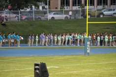 Raider Marching Band during Fall Meet The Raiders, TASD Sports Stadium, Tamaqua, 8-26-2015 (12)