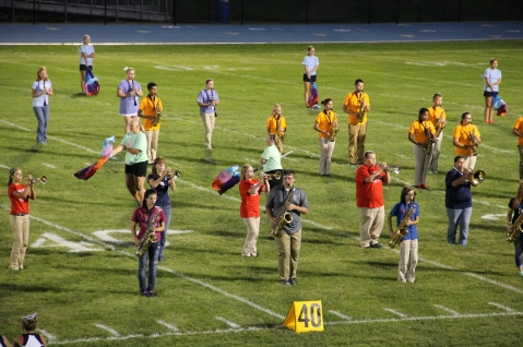 Raider Marching Band during Fall Meet The Raiders, TASD Sports Stadium, Tamaqua, 8-26-2015 (136)