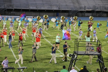 Raider Marching Band during Fall Meet The Raiders, TASD Sports Stadium, Tamaqua, 8-26-2015 (145)