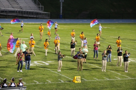 Raider Marching Band during Fall Meet The Raiders, TASD Sports Stadium, Tamaqua, 8-26-2015 (148)